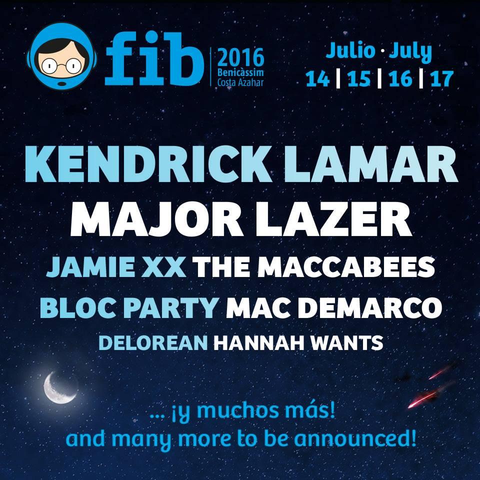 14 – 17 июля 2016. FIB. Беникассим (Испания)